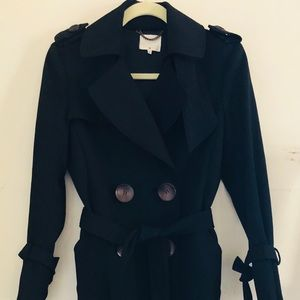 3.1 Phillip Lim black wool trench coat